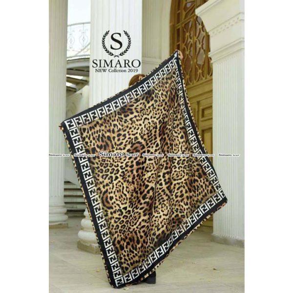 روسری حریر مجلسی سیمارو کد K-6073 نمای باز