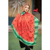 روسری نخی پاییزه طرح شب یلدا هندوانه