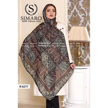 روسری حریر مجلسی سیمارو کد k-6271