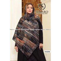 روسری حریر مجلسی سیمارو کد K-6256