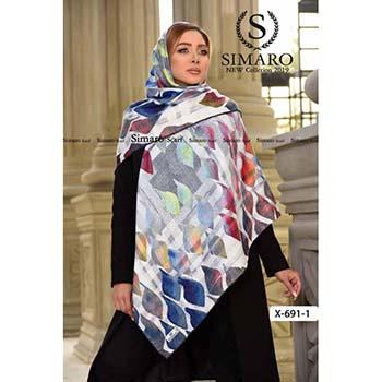 روسری حریر مجلسی سیمارو کد X-691-1
