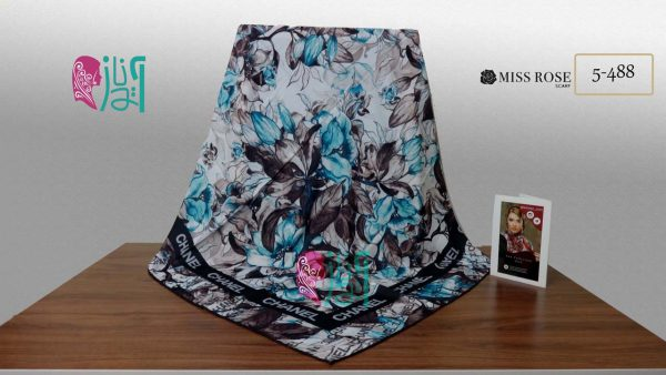 خرید روسری نخی پاییزه میس رز کد 5-488 نمای کلی
