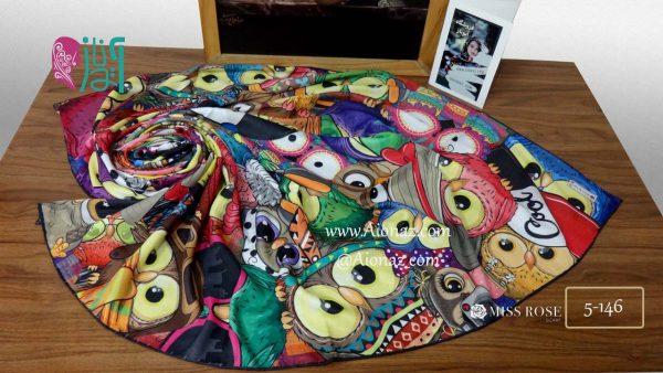 خرید روسری نخی پاییزه میس رز کد 5-146 نمای بالا