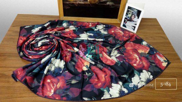 خرید روسری نخی پاییزه میس رز کد 5-184 نمای بالا
