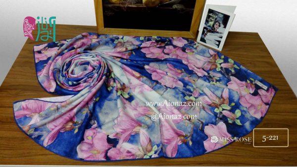 خرید روسری نخی پاییزه میس رز کد 5-221 نمای بالا
