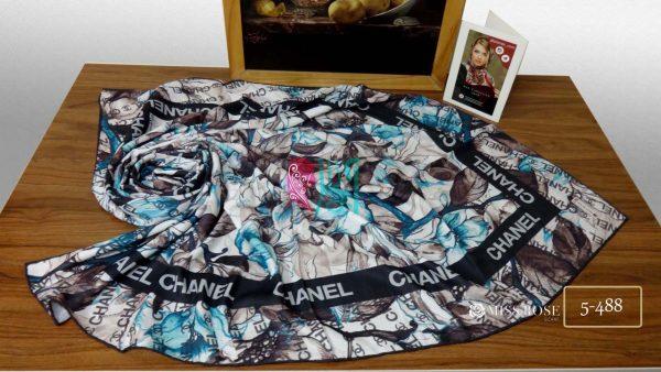 خرید روسری نخی پاییزه میس رز کد 5-488 نمای بالا