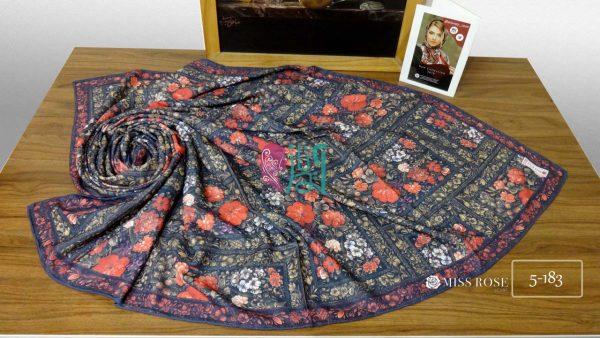 خرید روسری نخی پاییزه میس رز کد 5-183 نمای بالا