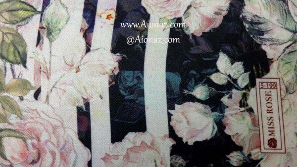 خرید روسری نخی پاییزه میس رز کد 5-199 نمای نزدیک
