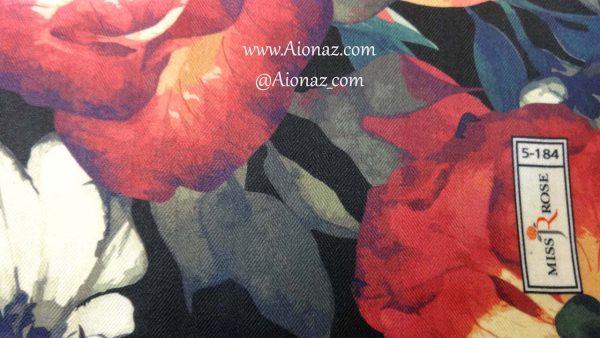 خرید روسری نخی پاییزه میس رز کد 5-184 نمای نزدیک