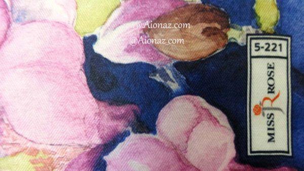 خرید روسری نخی پاییزه میس رز کد 5-221 نمای نزدیک