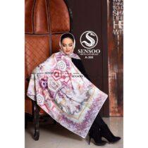 خرید روسری حریر کرپ مجلسی سنسو کد A-366