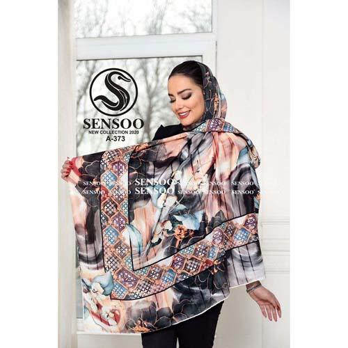 خرید روسری حریر کرپ مجلسی سنسو کد A-373