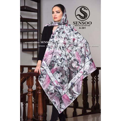 خرید روسری حریر کرپ مجلسی سنسو کد A-361