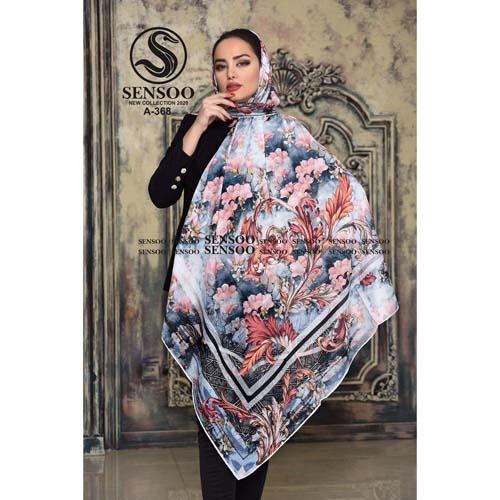 خرید روسری حریر کرپ مجلسی سنسو کد A-368