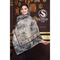 خرید روسری حریر کرپ مجلسی سنسو کد A-348