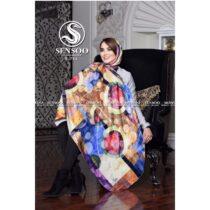 خرید عمده روسری سنسو نخی پاییزه کد b754