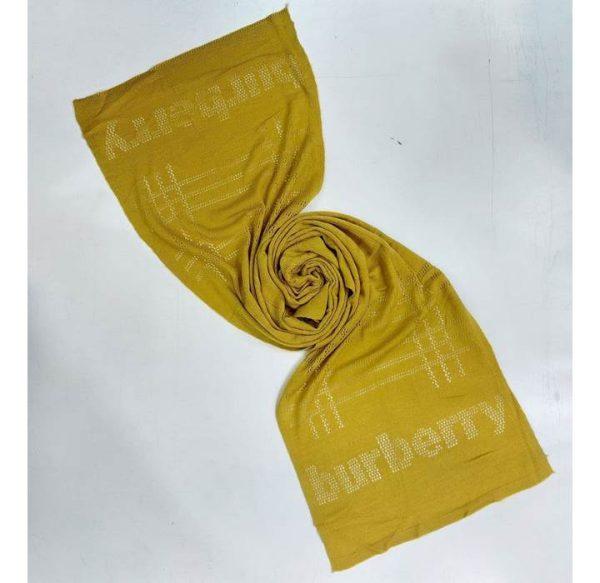 خرید عمده شال بافت طرح تایپی رنگ زرد
