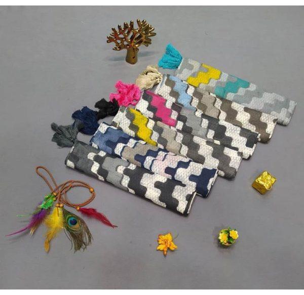 خرید عمده شال نخی کشمیری شطرنجی نمای کلی رنگبندی