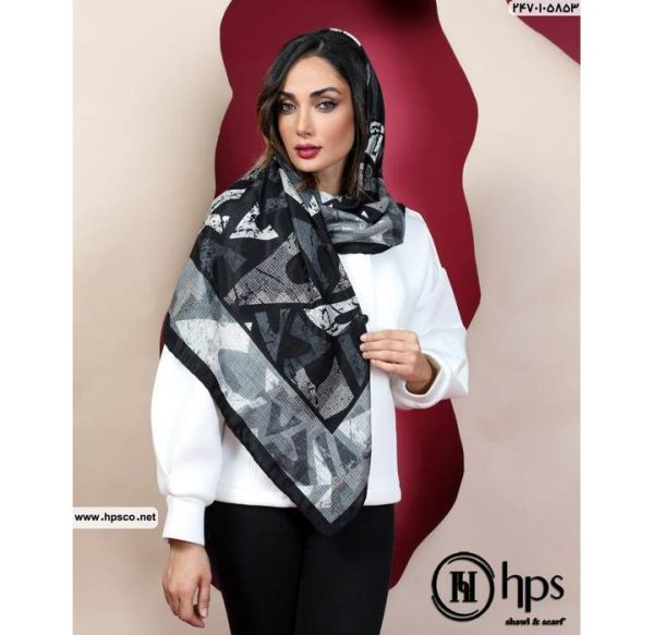 خرید عمده روسری کشمیرطرحدار3