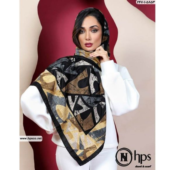 خرید عمده روسری کشمیرطرحدار5