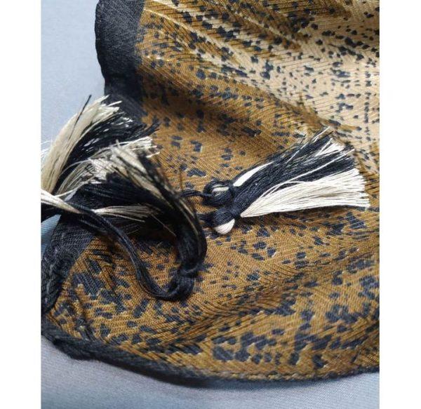 خرید عمده روسری نخی حاشیه دار نمای منگوله