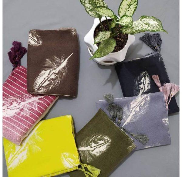 خرید عمده شال موهر طرح پر رنگبندی